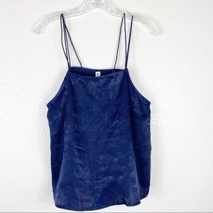 Nordstrom BP Blue Silky Strap Cami Top